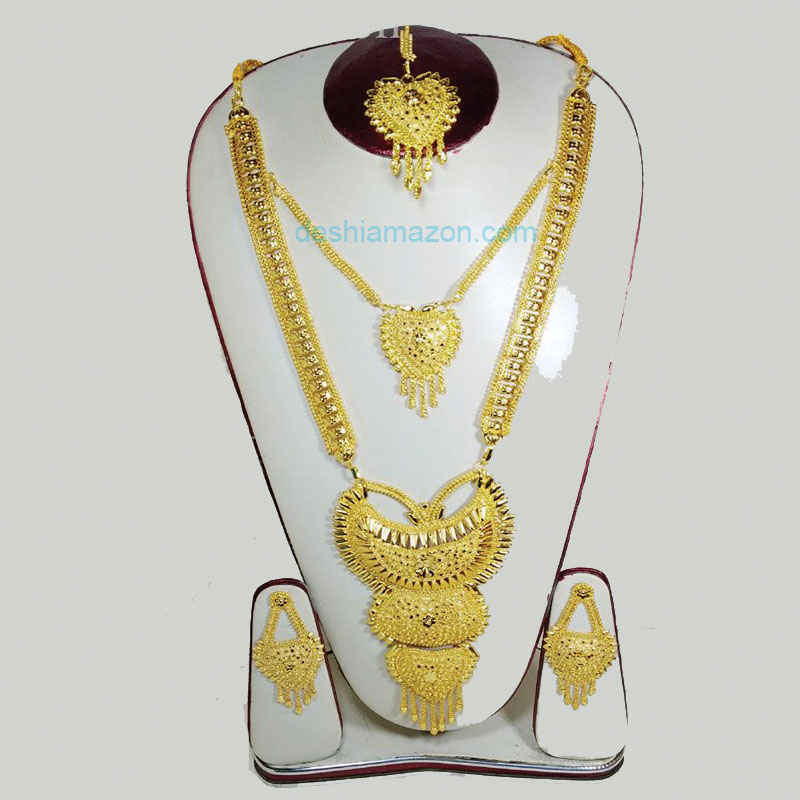 Chain Necklace With Tikly And Earrings   687673