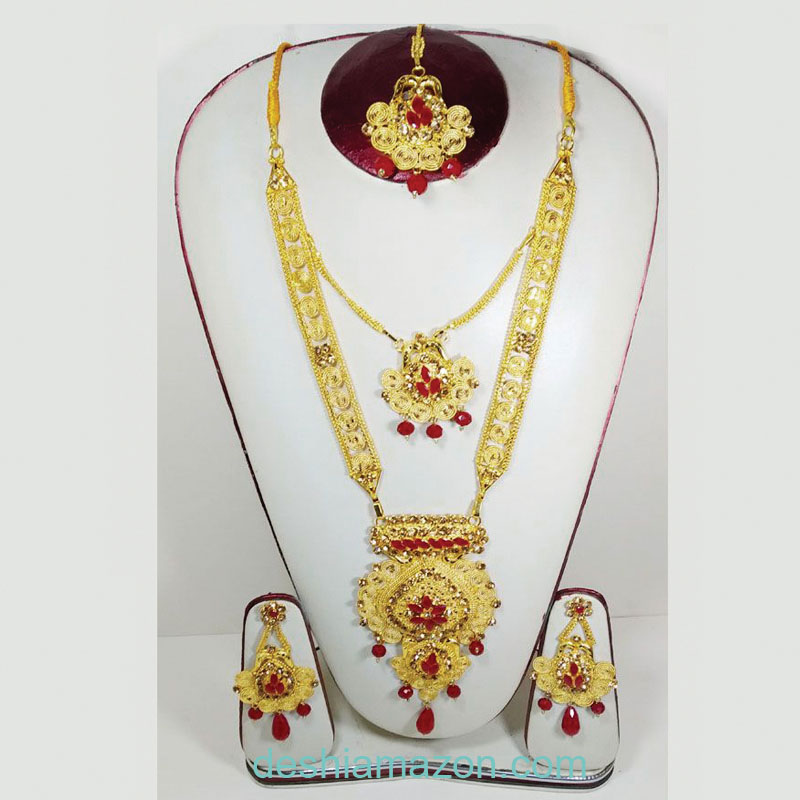 Chain Necklace With Tikly And Earrings   687684